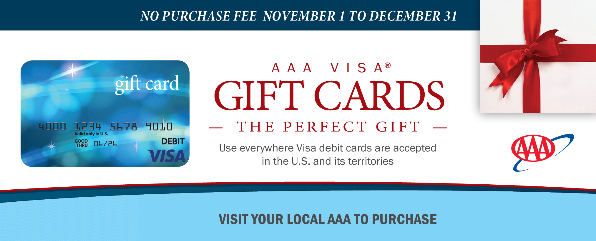 No fee Visa Gift Card