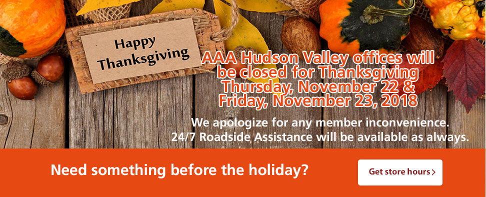 Holiday Hours - Thanksgiving