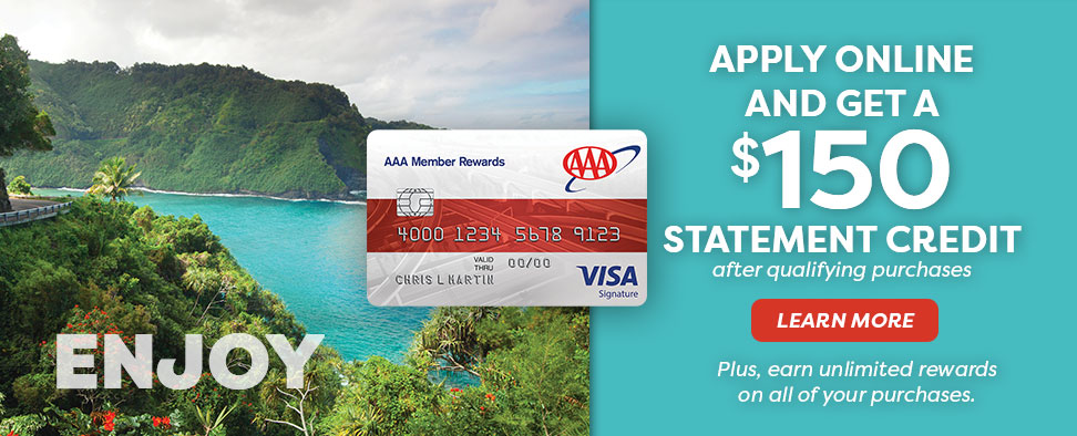 AAA Visa Credit Card Special offer