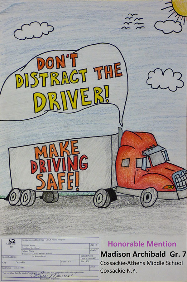 2018 Traffic Safety Poster Contest Aaa Hudson Valley