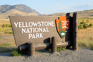 sign for yellowstone